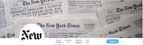 New NYT Twitter feed image